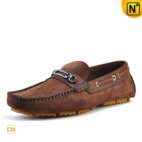 Cwmalls Commodity's men's shoes - CWMALLS Leather Driving Loafers - Brown - leather