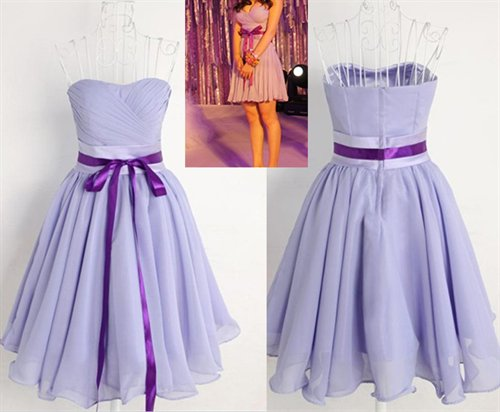 Anjalia Green's women's cloth - Kissprom KSP140 - Lavender - Chiffon