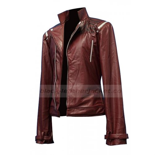 Sherry Marton's men's cloth - Black Leather jacket Travis Touchdown Jacket - Maroon - Genuine Leather / Faux Leather