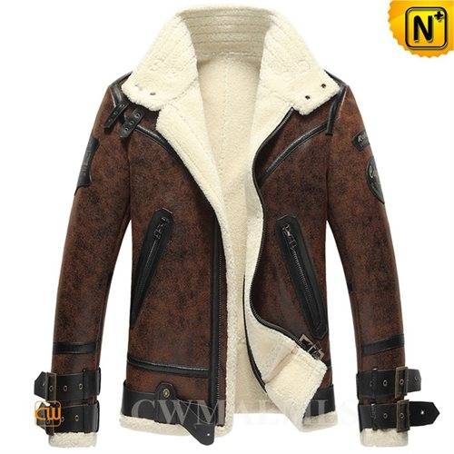 Cwmalls Commodity's men's cloth - Cwmalls Hooded Fur Parka - Brown - Shearling