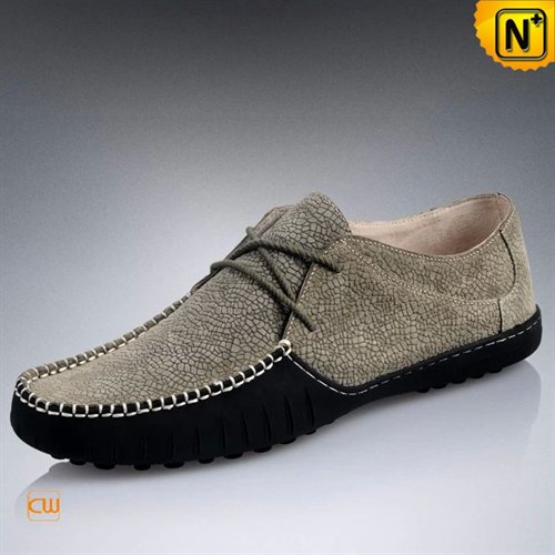 Cwmalls Commodity's men's cloth - CWMALLS Leather Driving Moccasin - Silver - leather