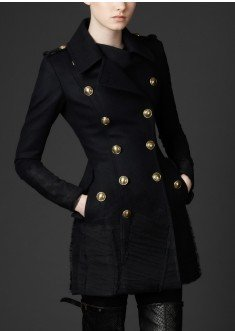 Lara Minara's women's cloth - Burberry Exalted Coat - Charcoal Grey