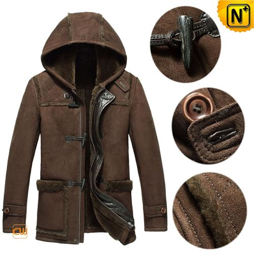 Cwmalls Commodity's boys cloth - cwmalls Mens Shearling Coat - Brown - shearling