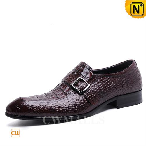 Cwmalls Commodity's men's shoes - cwmalls Mens Monk Shoes - full grain calfskin leather