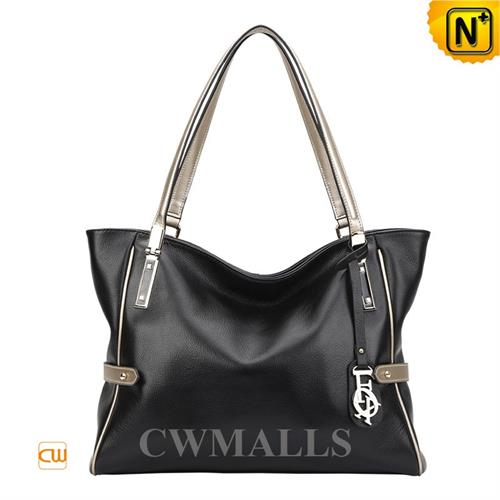 Cwmalls Commodity's bag - CWMALLS Leather Hobo Bag - Black - genuine leather