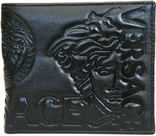 Vitchuda Pumalee's wallet - Versace Gianni Versace Men's wallets - Black - Leather