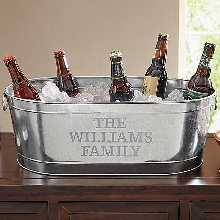Wowzie K's foods and beverages - Personal Creations Galvanized - Galvanized Beverage Tub