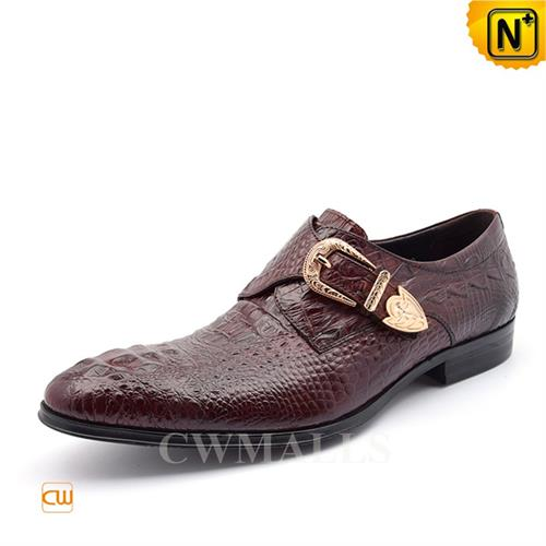 Cwmalls Commodity's men's shoes - cwmalls Monk Dress Shoes - full grain calfskin leather